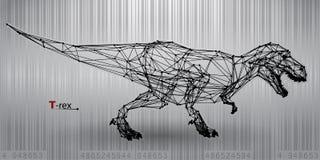 T-rex od trójboków Zdjęcia Royalty Free