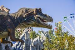 T Rex in park Stock Photos