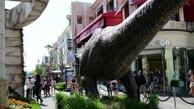 T-rex promozionale per il mondo giurassico del film imminente: Regno caduto video d archivio