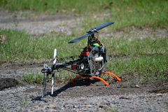 T-Rex 500 Remote Contol Heicopter Stock Photo