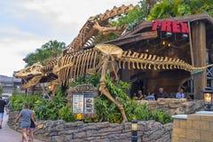 T-Rex Restaurant, het Uitzicht van Meerbuena stock afbeelding