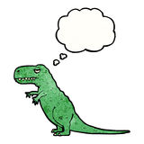 T-rex with thought bubble Royalty Free Stock Photography