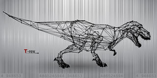 T-rex from triangles Royalty Free Stock Photos