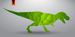 T-rex from triangles Royalty Free Stock Photo