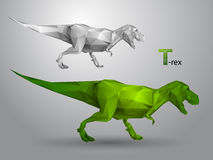 T-rex from triangles Stock Image