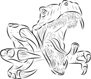 T-rex vector. Vector graphic (T-rex) black Royalty Free Stock Images
