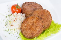 T?rkisches Lebensmittel Kofte oder Kofta W?rziger Fleischkl?schen Kebab oder Kebap lizenzfreies stockbild