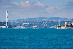 T?rkiswasser der Bosphorus-Stra?e von Istanbul lizenzfreie stockfotos