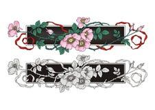Té Rose Flower Frame Ornament Fotos de archivo libres de regalías