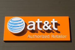 AT&T ruchliwości znak obrazy stock