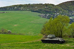 T34. Russian famous tank t34 in Death Valley in Slovakia Stock Images