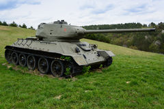 T34. Russian famous tank t34 in Death Valley in Slovakia Stock Image