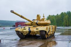 T-90S Modernized Main battle tank. NIZHNY TAGIL, RUSSIA - SEPTEMBER 09, 2017: T-90S Modernized Main battle  russian tank on the demonstration area of the first Royalty Free Stock Photography