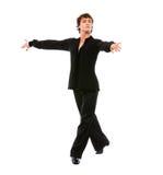 tła sala balowej tancerza samiec target2000_0_ biel Zdjęcia Stock