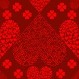 tła serc bezszwowi valentines Obraz Stock