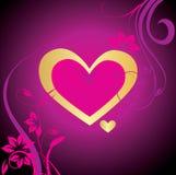 tła serc valentine Obrazy Stock