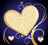 tła serc valentine Obrazy Royalty Free