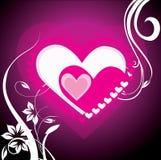 tła serc valentine Zdjęcia Stock