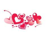 tła serc valentine Fotografia Royalty Free