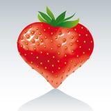tła serca odosobniony truskawkowy biel Zdjęcie Royalty Free