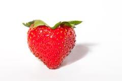 tła serca odosobniony truskawkowy biel Obraz Royalty Free