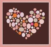 tła serca valentine Fotografia Stock