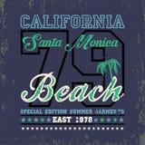 T-shir que practica surf California, deporte acuático, el practicar surf de Santa Monica libre illustration