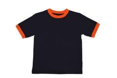 T-shirt. Black t-shirt isolated on white Stock Image