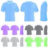 T-shirt (5 verschillende kleuren) royalty-vrije illustratie