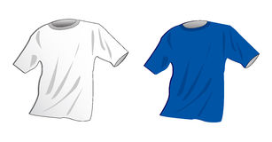 T-shirt. Basic model of two t-shirts on white Royalty Free Stock Photos