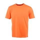 T-shirt alaranjado em um fundo branco Foto de Stock Royalty Free