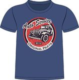 T-Shirt Auto service Design. The t-Shirt Auto service Design stock illustration