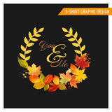 T-shirt Autumn Shabby Chic Graphic Design Images stock