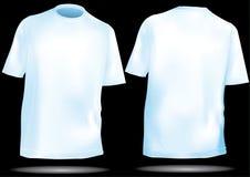 T-shirt, avant de chemise et dos avec la maille Photo stock