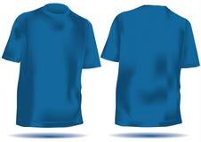 T-shirt avec l'avant et le dos de maille dans le bleu Photos libres de droits