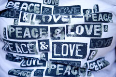 T-shirt avec le message d'amour de handwrite Image libre de droits