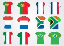 T-shirt avec les indicateurs nationaux Image libre de droits