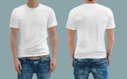 T-shirt blanc sur un calibre de jeune femme Image libre de droits