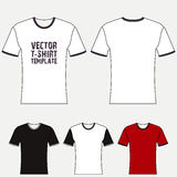 T-shirt blank design template Royalty Free Stock Image