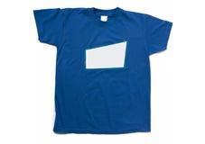T-shirt bleu d'isolement Photos stock