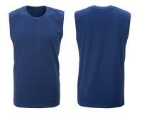 T-shirt bleu, vêtements Photo stock
