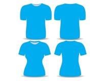 T-shirt blue template Stock Image