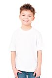 T-shirt on boy Stock Images