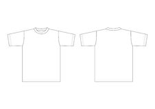 T-shirt branco Imagem de Stock Royalty Free