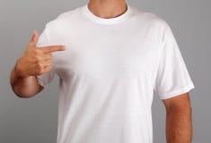 T-shirt branco em branco Imagem de Stock