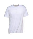 T-shirt branco para homens Fotos de Stock