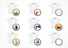 T-shirt brancos limpados Ilustração Stock