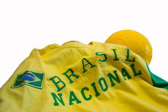 T-shirt brazil. A yellow t-shirt for the world championship in Brazil Royalty Free Stock Photo