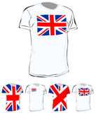 T-shirt britannique Photographie stock