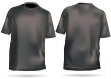 T-shirt, chemise avec l'avant et dos Image stock